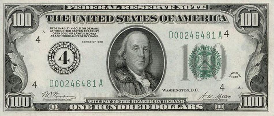 Old 100 US Dollar